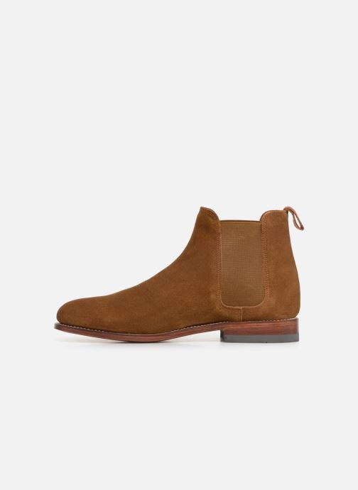 Ankle boots G.H. Bass Monogram Chelsea II Suede Brown front view