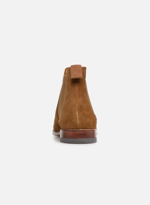 Ankle boots G.H. Bass Monogram Chelsea II Suede Brown view from the right