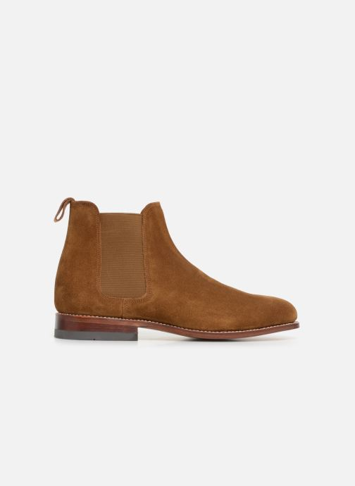 Ankle boots G.H. Bass Monogram Chelsea II Suede Brown back view