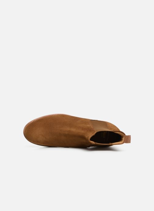 Ankle boots G.H. Bass Monogram Chelsea II Suede Brown view from the left