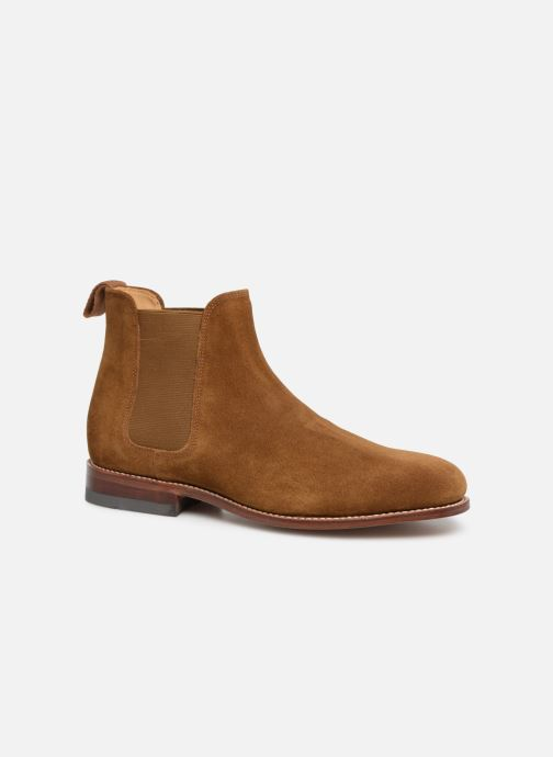 Ankle boots G.H. Bass Monogram Chelsea II Suede Brown detailed view/ Pair view