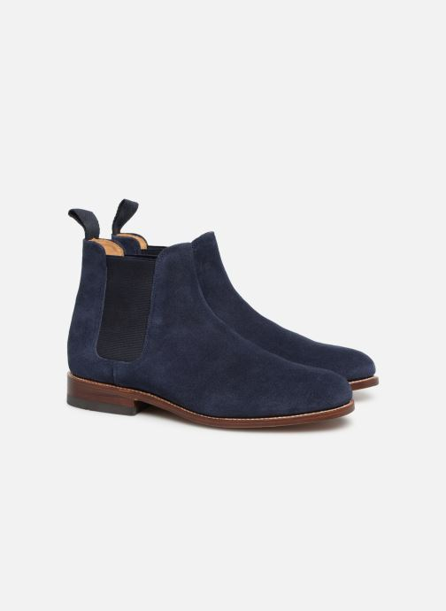 Ankle boots G.H. Bass Monogram Chelsea II Suede Blue 3/4 view