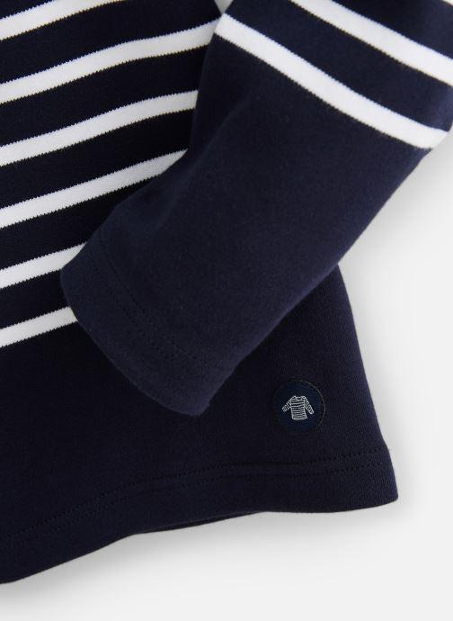 Vêtements Armor Lux Mariniere Amiral Bleu vue portées chaussures