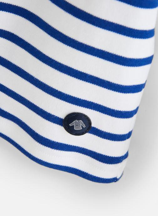 Vêtements Armor Lux Mariniere Loctudy Bleu vue portées chaussures