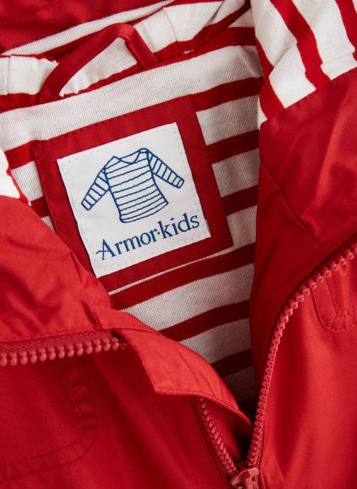 Vêtements Armor Lux Parka Audierne Rouge vue portées chaussures