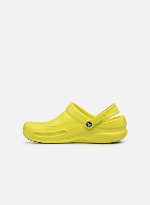 Sandalias Crocs Bistro m Amarillo vista de frente