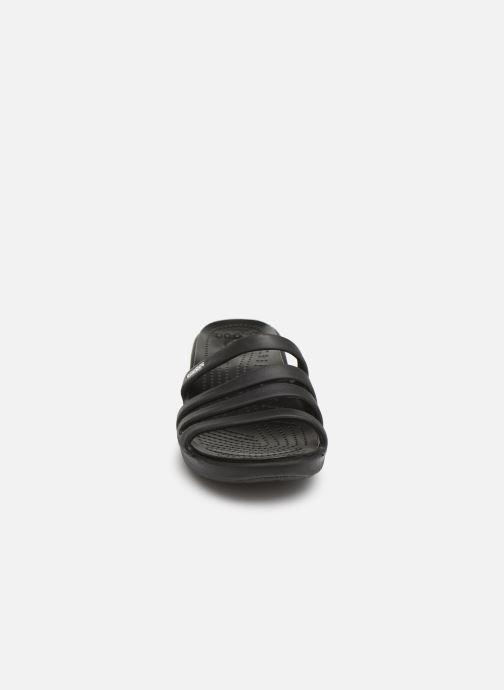 Mules et sabots Crocs Rhonda Wedge Sandal W Noir vue portées chaussures