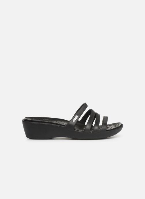 Mules et sabots Crocs Rhonda Wedge Sandal W Noir vue derrière