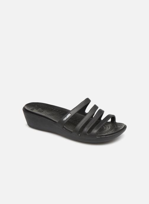 Mules et sabots Crocs Rhonda Wedge Sandal W Noir vue détail/paire