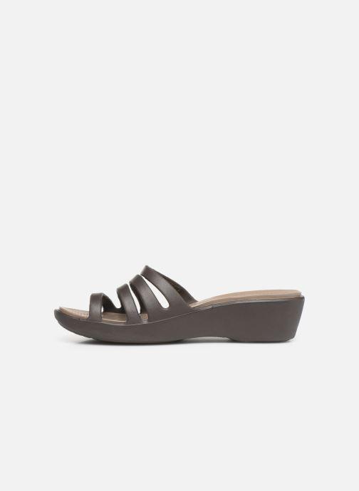Wedges Crocs Rhonda Wedge Sandal W Bruin voorkant