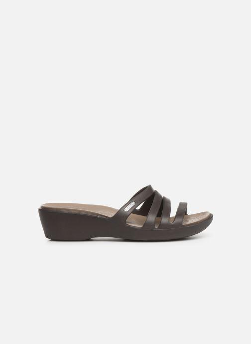 Wedges Crocs Rhonda Wedge Sandal W Bruin achterkant