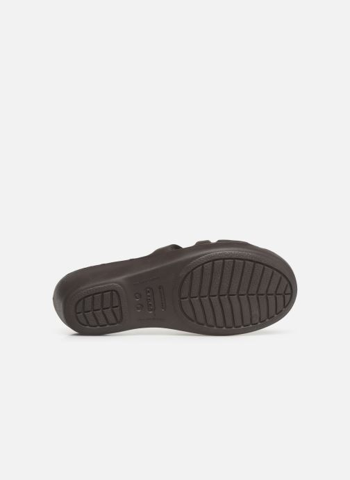Wedges Crocs Rhonda Wedge Sandal W Bruin boven