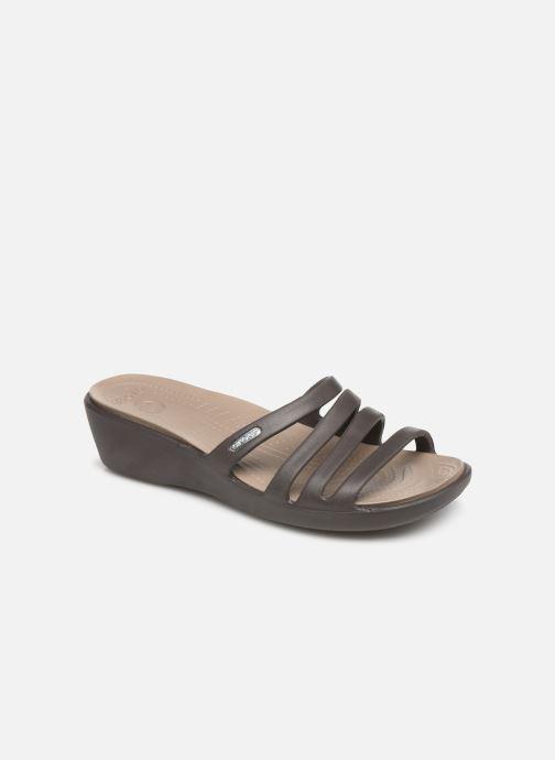 Mules et sabots Crocs Rhonda Wedge Sandal W Marron vue détail/paire