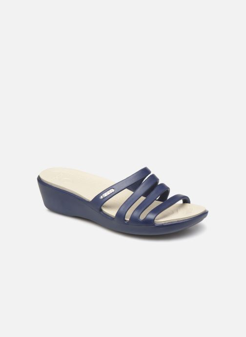 a9ce15a2aed Crocs Rhonda Wedge Sandal W (Blue) - Mules   clogs chez Sarenza (366972)