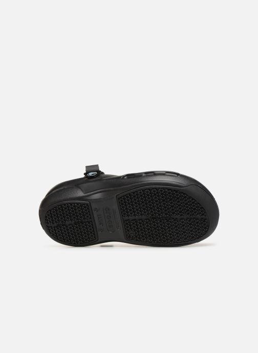 Mules et sabots Crocs Bistro Pro Clog W Noir vue haut