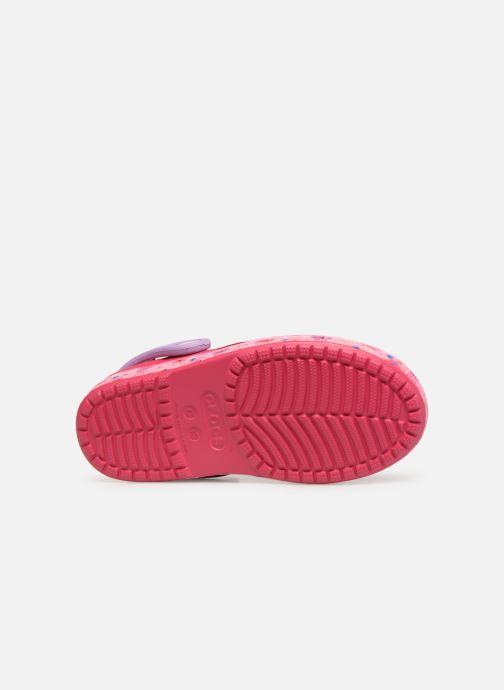 Sandales et nu-pieds Crocs Crocs Bump It Sea Life Clog K Rose vue haut