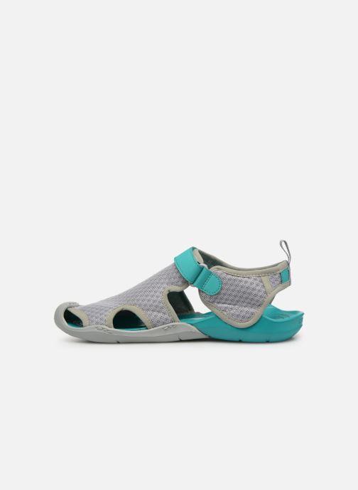 Sandalias Crocs Swiftwater Mesh Sandal W Gris vista de frente