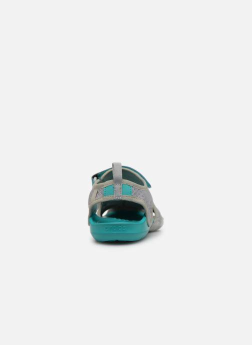 Sandales et nu-pieds Crocs Swiftwater Mesh Sandal W Gris vue droite