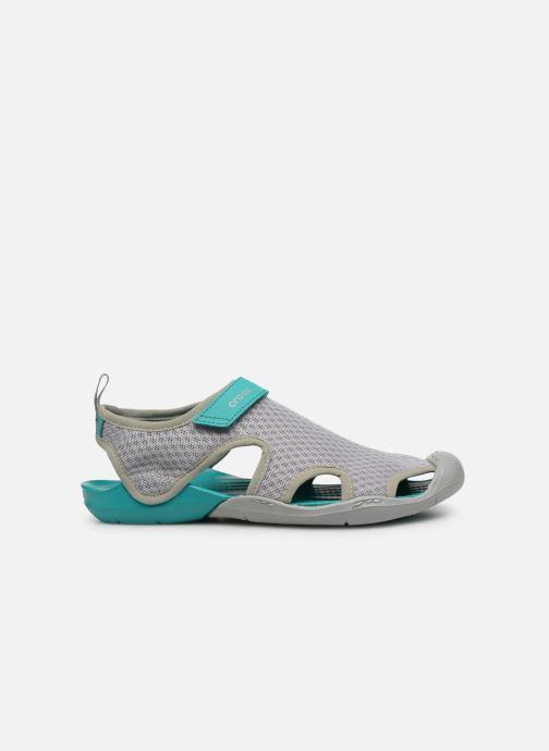 Sandalias Crocs Swiftwater Mesh Sandal W Gris vistra trasera