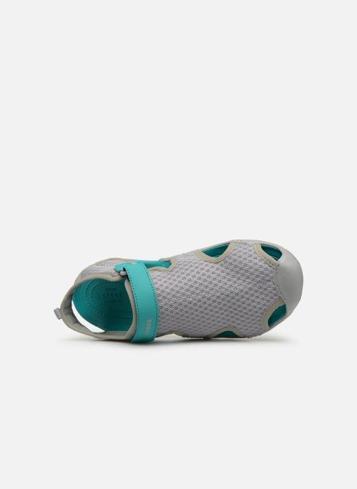 Sandales et nu-pieds Crocs Swiftwater Mesh Sandal W Gris vue gauche