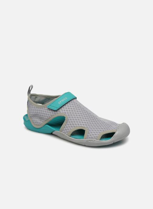 Sandales et nu-pieds Crocs Swiftwater Mesh Sandal W Gris vue détail/paire