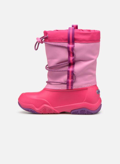 Chaussures de sport Crocs Swiftwater Waterproof Boot K Rose vue face