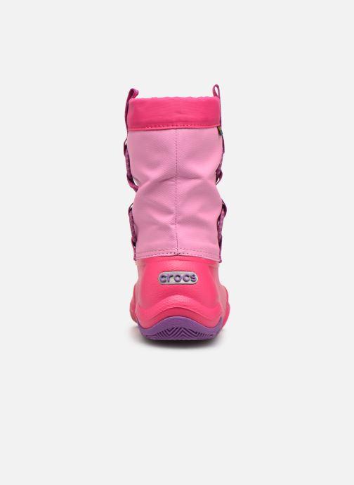 Chaussures de sport Crocs Swiftwater Waterproof Boot K Rose vue droite