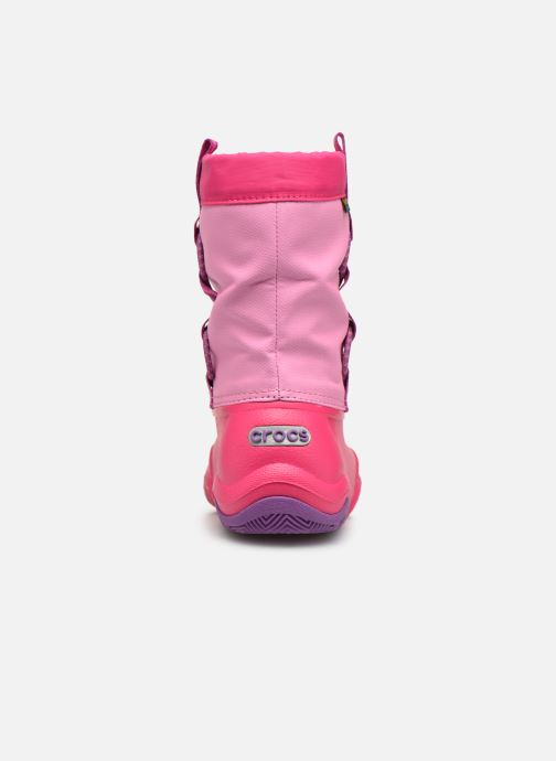 Zapatillas de deporte Crocs Swiftwater Waterproof Boot K Rosa vista lateral derecha