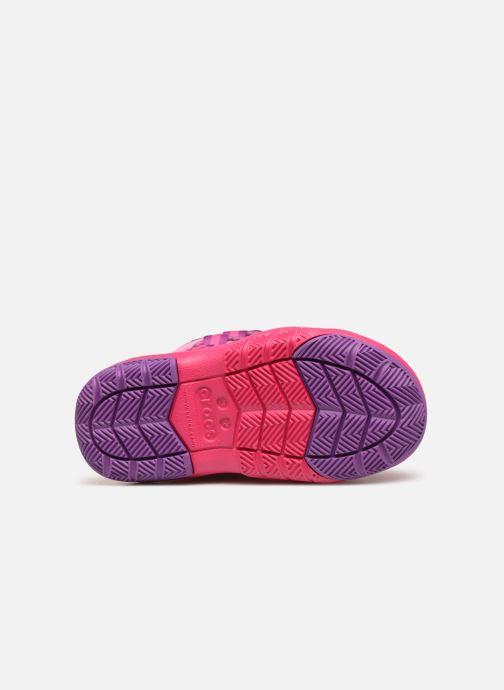 Chaussures de sport Crocs Swiftwater Waterproof Boot K Rose vue haut