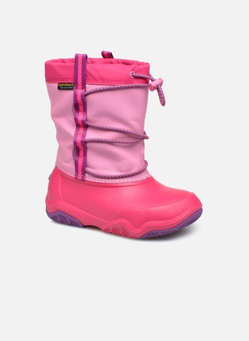 Chaussures de sport Crocs Swiftwater Waterproof Boot K Rose vue détail/paire