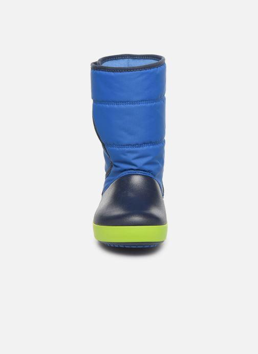 Sandales et nu-pieds Crocs LodgePoint Snow Boot K Rouge vue portées chaussures