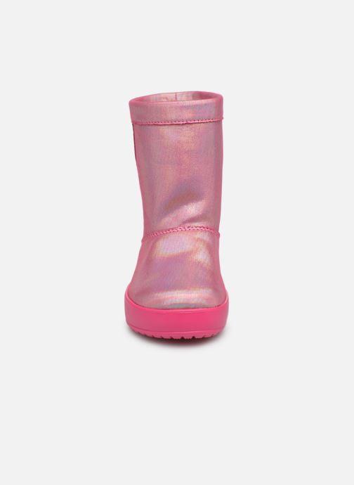 Scarpe sportive Crocs LodgePoint Novelty Boot K Rosa modello indossato