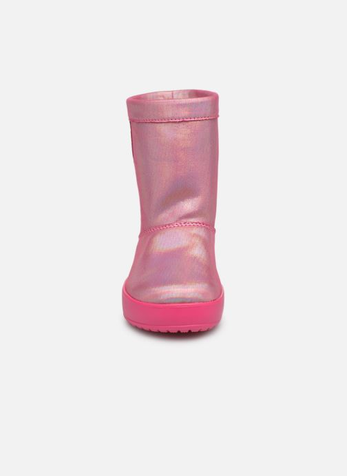 Chaussures de sport Crocs LodgePoint Novelty Boot K Rose vue portées chaussures