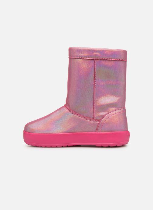 Chaussures de sport Crocs LodgePoint Novelty Boot K Rose vue face