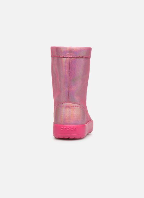 Chaussures de sport Crocs LodgePoint Novelty Boot K Rose vue droite