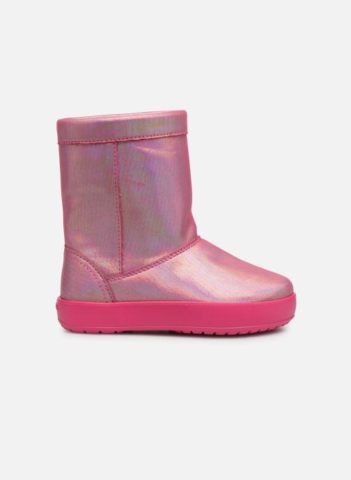 Chaussures de sport Crocs LodgePoint Novelty Boot K Rose vue derrière