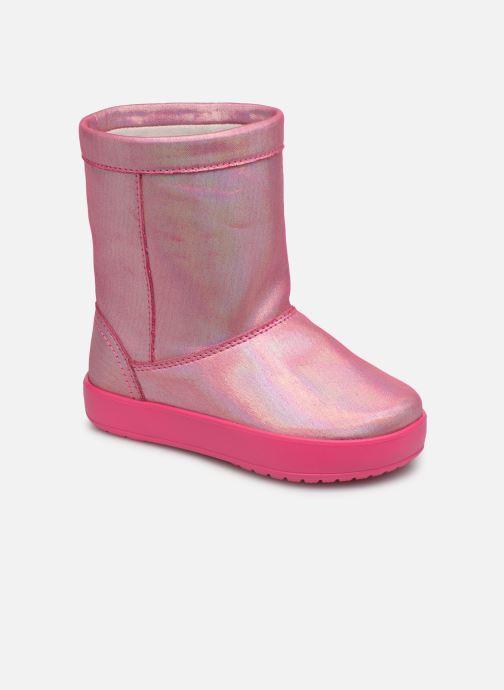 Chaussures de sport Crocs LodgePoint Novelty Boot K Rose vue détail/paire