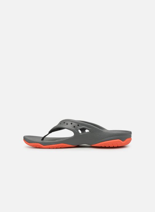 Tongs Crocs Swiftwater Deck Flip M Gris vue face