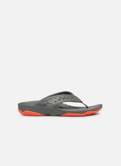 Tongs Crocs Swiftwater Deck Flip M Gris vue derrière