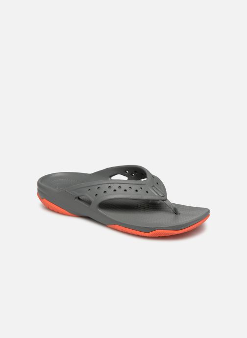 Tongs Crocs Swiftwater Deck Flip M Gris vue détail/paire