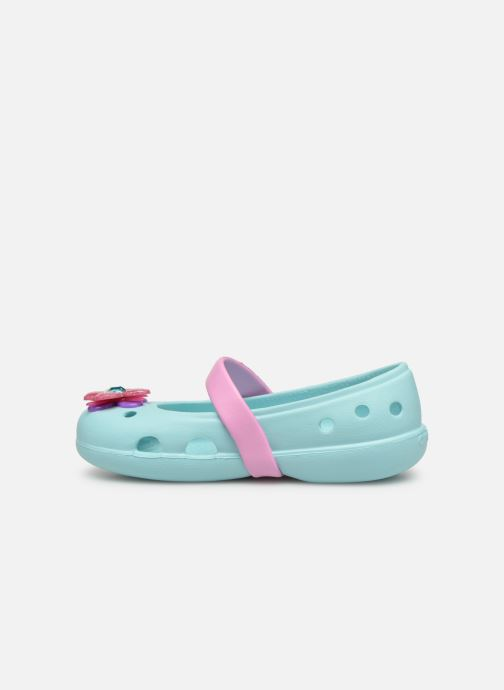 Ballerines Crocs Keeley Spingtime Flat PS Bleu vue face