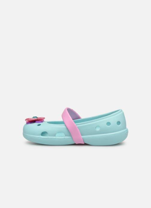 Bailarinas Crocs Keeley Spingtime Flat PS Azul vista de frente