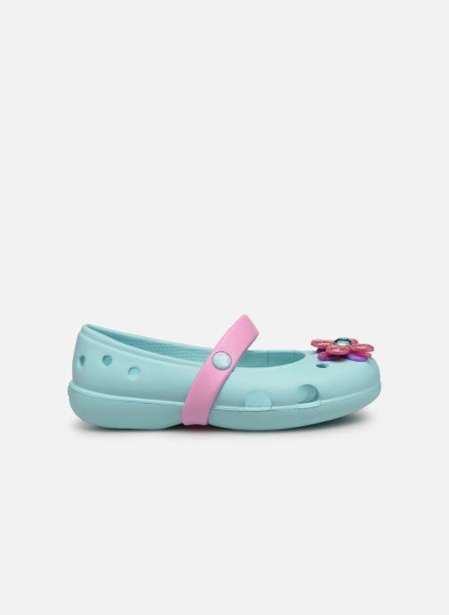 Ballerina's Crocs Keeley Spingtime Flat PS Blauw achterkant