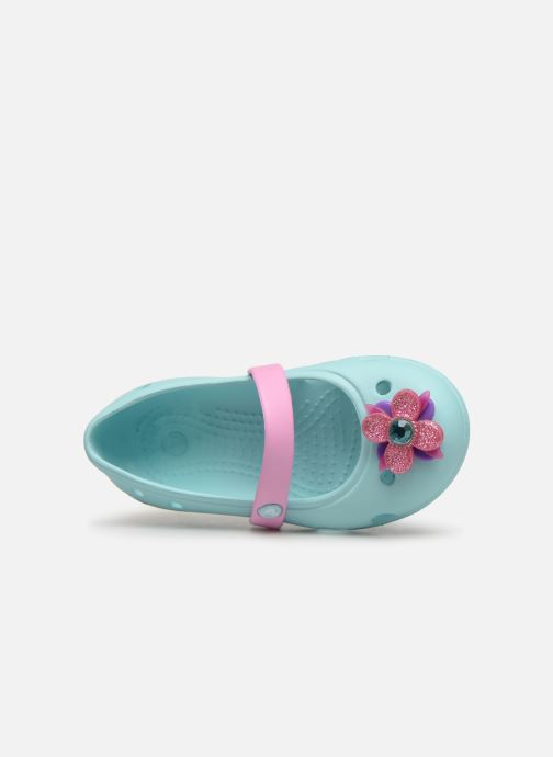 Ballerina's Crocs Keeley Spingtime Flat PS Blauw links