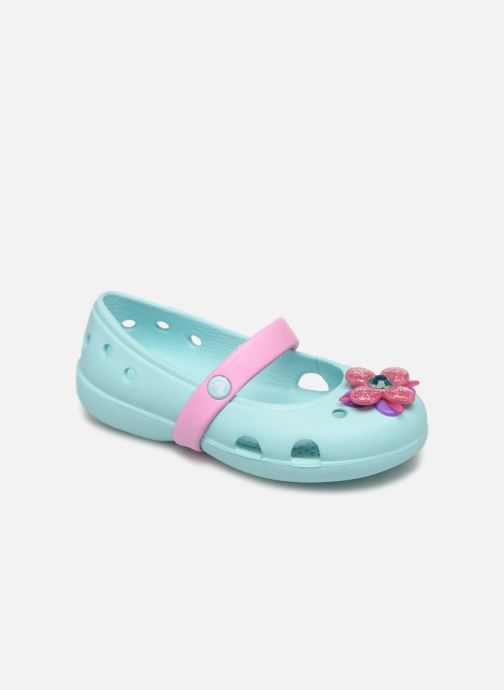 Ballerina's Crocs Keeley Spingtime Flat PS Blauw detail