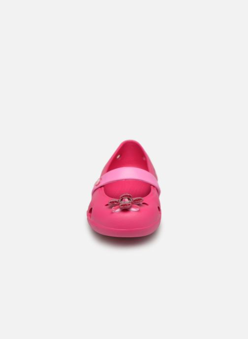 Ballet pumps Crocs Keeley Spingtime Flat PS Pink model view