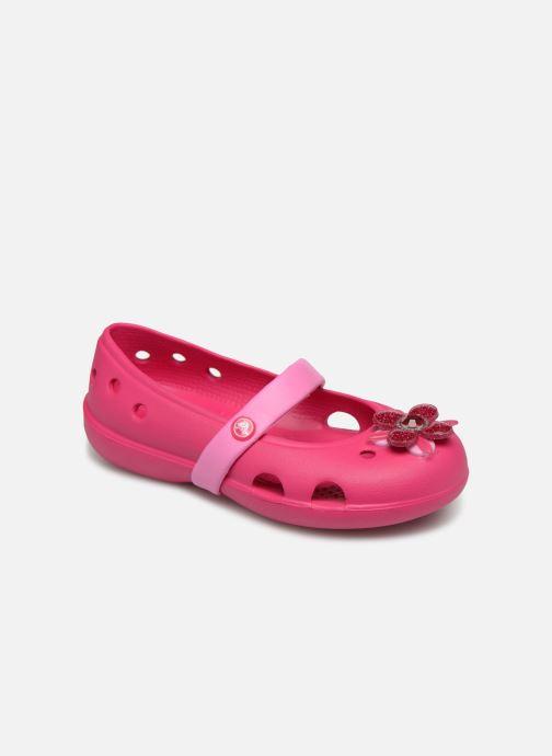 Ballerines Crocs Keeley Spingtime Flat PS Rose vue détail/paire