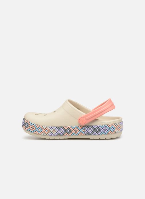 Sandales et nu-pieds Crocs Crocband Gallery Clog K Blanc vue face
