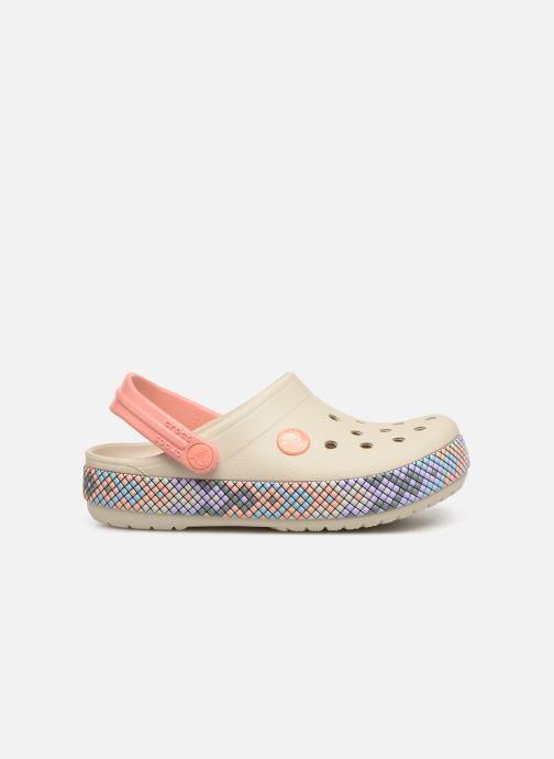 Sandales et nu-pieds Crocs Crocband Gallery Clog K Blanc vue derrière