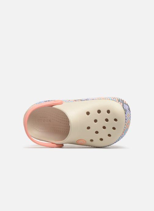 Sandales et nu-pieds Crocs Crocband Gallery Clog K Blanc vue gauche